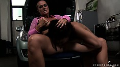 The brunette gets her anal hole fingered deep and her body trembles with delight
