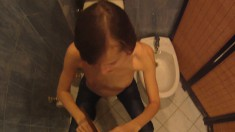 Skinny young babe uses her tight shaved pussy to pay for her drinks