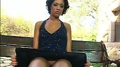 Inked up black diva gets to take a ride on a huge white dick