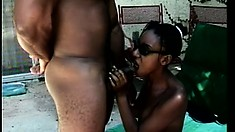 Cuba interrupts two lesbians eating pussy and fucks them both