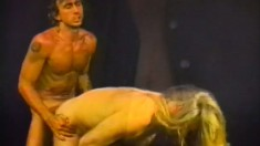 Old school video of dreamy hunks fucking and cumming on each other