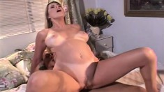 Bree Brooks uses her tight pink asshole to glide on a thick dick