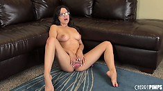Linda Lay takes off her undies and gets frisky for the camera