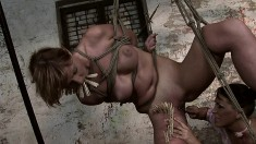 Wild babe with superb tits and ass Gabriella has a passion for bondage