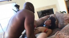 Mika Brown gets a huge black dick that he sticks in every hole
