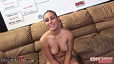 Britney Amber and Rilynn Rae are in a contest to win the glass cup