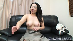 The stacked cougar has a superb ass and a tight hairy peach craving for pleasure