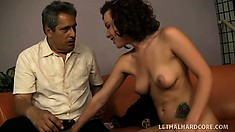 Cock-hungry Katie St. Ives shows her horny step-dad a great time