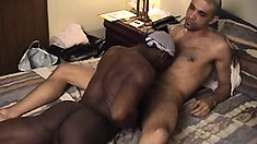 Black guy gets blown and rimmed by a latino with a sweet tongue