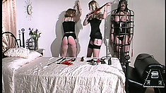Smoking hot lesbian babes with a feet fetish get mighty freaky