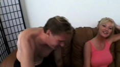 Busty Alison Kilgore gets a deep doggystyle pounding from a big pole